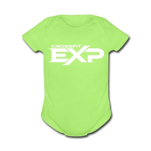 EXP One-Piece- Green - Organic Short Sleeve Baby Bodysuit