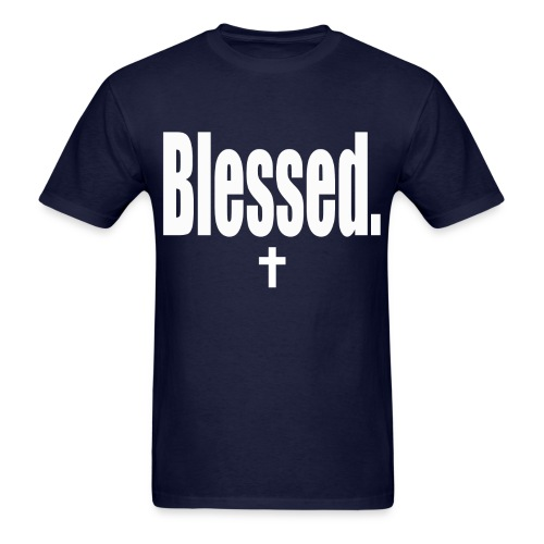 Blessed tee white print - Men's T-Shirt
