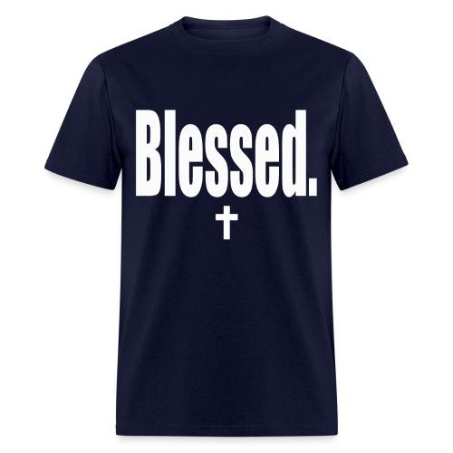Blessed tee white print - Men's T-Shirt