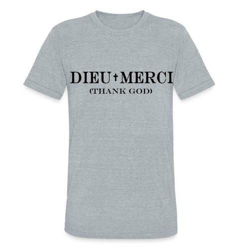 Dieu Merci tee - Unisex Tri-Blend T-Shirt