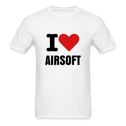 I Love Airsoft Shirt - Men's T-Shirt