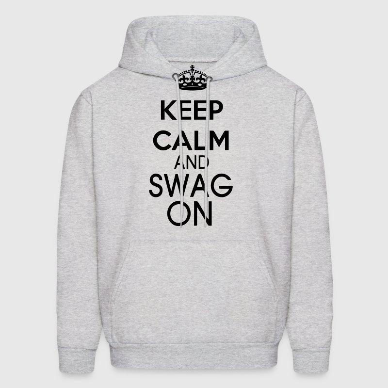 KEEP CALM AND SWAG ON Hoodies - Men's Hoodie