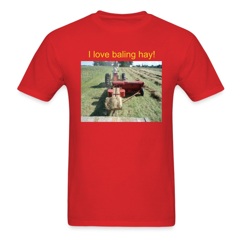 'I love baling hay!!' Men's T - Men's T-Shirt