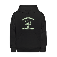 Sweatshirts ~ Kids' Hoodie ~ GLOW IN THE DARK DEMIGOD Kids Hoodie - Trident - Halloween Limited Edition