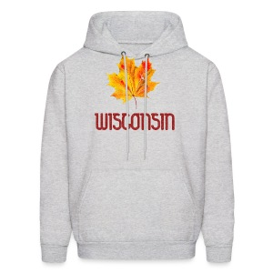 Autumn Wisconsin Leaf - Men's Hoodie