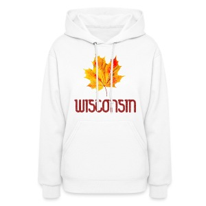Autumn Wisconsin Leaf - Women's Hoodie