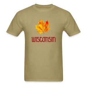 Autumn Wisconsin Leaf - Men's T-Shirt