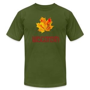 Autumn Wisconsin Leaf - Men's Fine Jersey T-Shirt