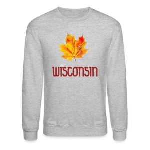 Autumn Wisconsin Leaf - Crewneck Sweatshirt