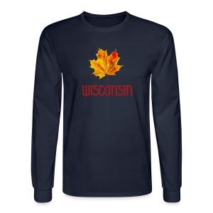 Autumn Wisconsin Leaf - Men's Long Sleeve T-Shirt