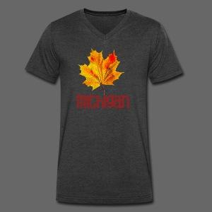 Autumn Michigan Leaf - Men's V-Neck T-Shirt by Canvas