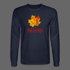 Autumn Michigan Leaf - Men's Long Sleeve T-Shirt