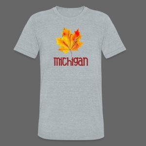 Autumn Michigan Leaf - Unisex Tri-Blend T-Shirt