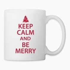 Keep Calm and Be Merry Christmas Bottles & Mugs