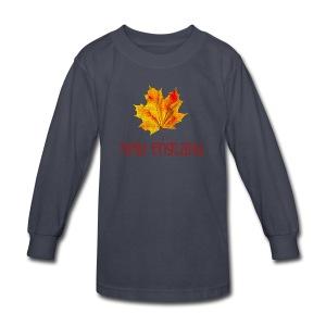 Autumn New England Leaf - Kids' Long Sleeve T-Shirt