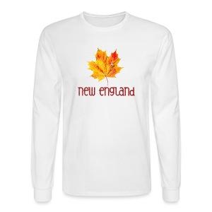 Autumn New England Leaf - Men's Long Sleeve T-Shirt