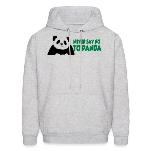 never say no to panda 3_hoodies - Men's Hoodie