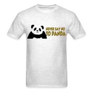 never say no to panda 3_t-shirt - Men's T-Shirt