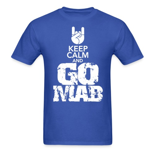 Keep Calm & GOMAB Royal/White - Men's T-Shirt