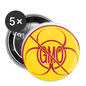 No GMO Buttons Biohazard NO GMO Buttons Pins - Small Buttons