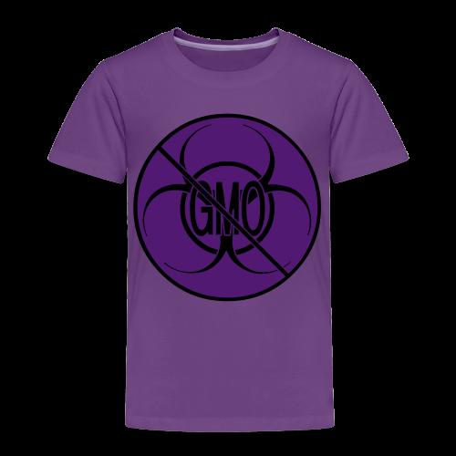 No GMO Toddler T-shirt Biohazard No GMO Shirts - Toddler Premium T-Shirt