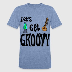 Let's Get Groovy Men's Tri-Blend T-shirt - Unisex Tri-Blend T-Shirt by American Apparel