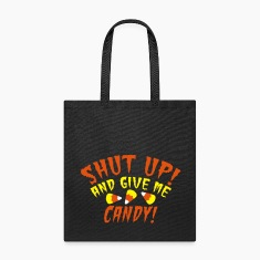 Shut up and give me CANDY Halloween design Bags & backpacks