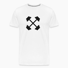 Gym Crossed Dumbbell Barbell Weight Athletics 1c T-Shirts
