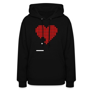 Pixel Heart Game Nerd Love 2c Hoodies - Women's Hoodie