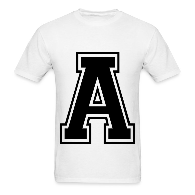 letter a t shirt spreadshirt With letter shirts
