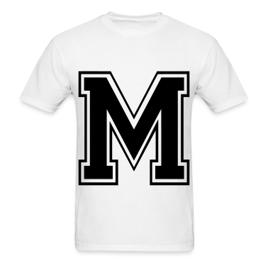 Letter m t shirts t shirt spreadshirt for Cute greek letter shirts