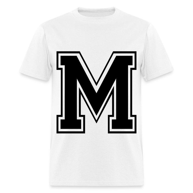 Letter m t shirt spreadshirt for Shirt lettering near me
