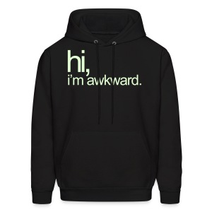 Hi, I'm Awkward (Glow) - Men's Hoodie
