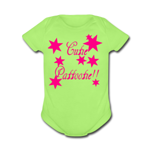 Cutie Pattootie - Short Sleeve Baby Bodysuit