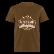 T-Shirts ~ Men's T-Shirt ~ $15 Mountain Country 107.9 Men's Basic T-Shirt