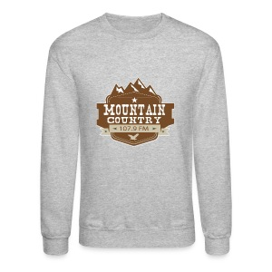 Mountain Country 107.9 Men's Sweatshirt - Crewneck Sweatshirt