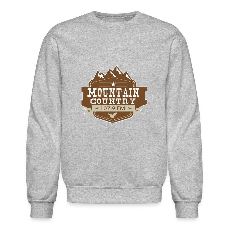 Mountain Country 107.9 Men's Sweatshirt - Crewneck Sweatshirt