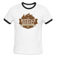 T-Shirts ~ Men's Ringer T-Shirt ~ Mountain Country 107.9 Men's Ringer
