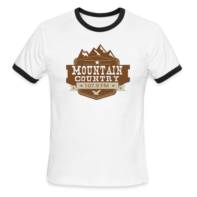 Mountain Country 107.9 Men's Ringer - Men's Ringer T-Shirt