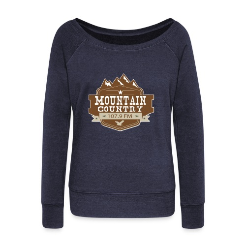 Mountain Country 107.9 Ladies Wideneck Sweatshirt - Women's Wideneck Sweatshirt