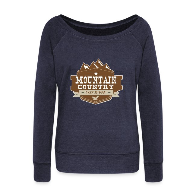 Mountain Country 107.9 Ladies Wideneck Sweatshirt