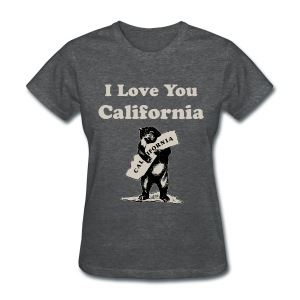 I Love You California Women's T-Shirts - Women's T-Shirt