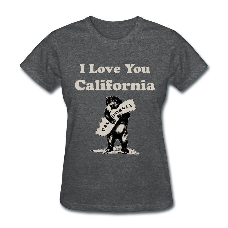 I Love You California T Shirt Spreadshirt