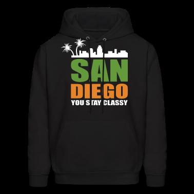 San Diego Stay Classy Hoodies