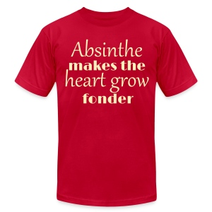 Absinthe Makes The Heart Grow Fonder - Men's T-Shirt by American Apparel