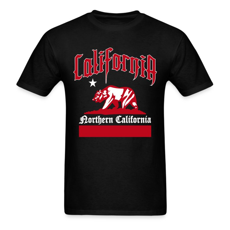 northern california t shirt spreadshirt. Black Bedroom Furniture Sets. Home Design Ideas