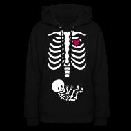 Hoodies ~ Women's Hoodie ~ Skeleton Maternity -baby/heart (Womens Hoodie)