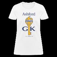 T-Shirts ~ Women's T-Shirt ~ Ashford Golden Key (women's) front & back
