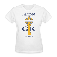 Women's T-Shirts ~ Women's T-Shirt ~ Ashford Golden Key (women's) front & back