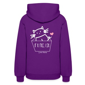 Women's Hoodie - whiskers,whisker,shelter,meow,love meow,love,kittens,kitten,feline,crazy cat lady,cats,cat lady,cat